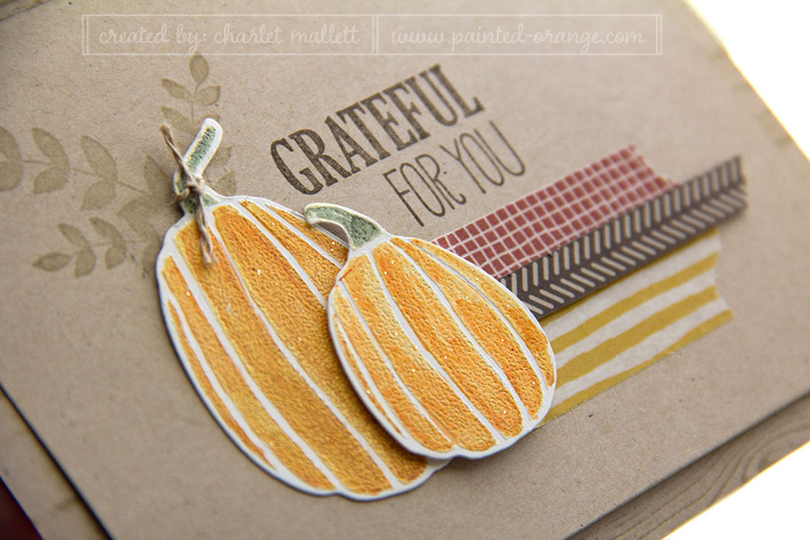 Pumpkins from Fall Fest - heat embossed and colored with Blendabilities.