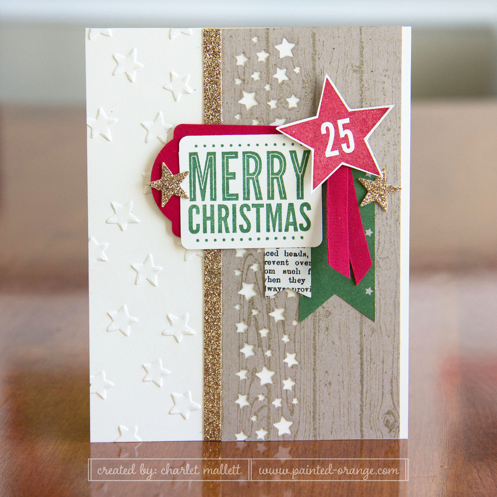 Merry Everything Star card - Stampin' Up! 2014 Holiday mini