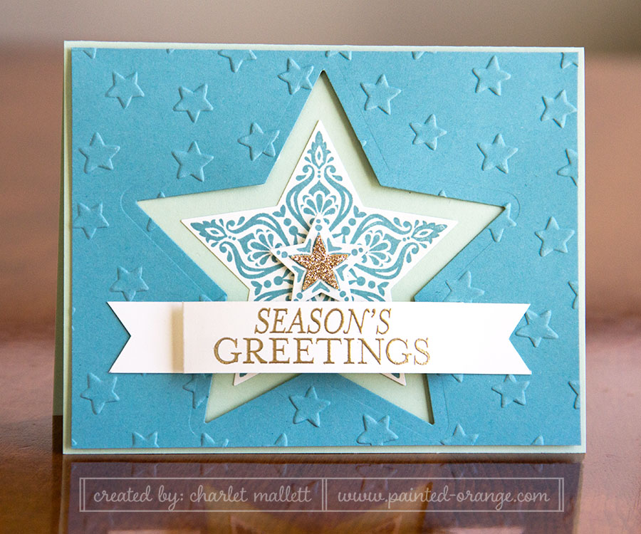 Bright & Beautiful Card, Stars, Stampin' Up!