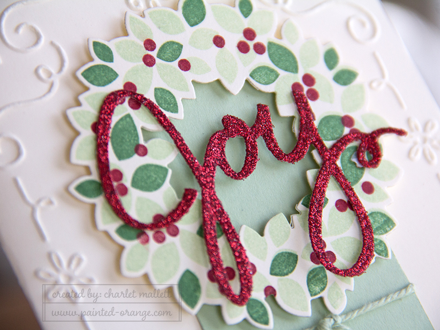 Detail view -  Wondrous Wreath Joy Card - SU Holiday 2014