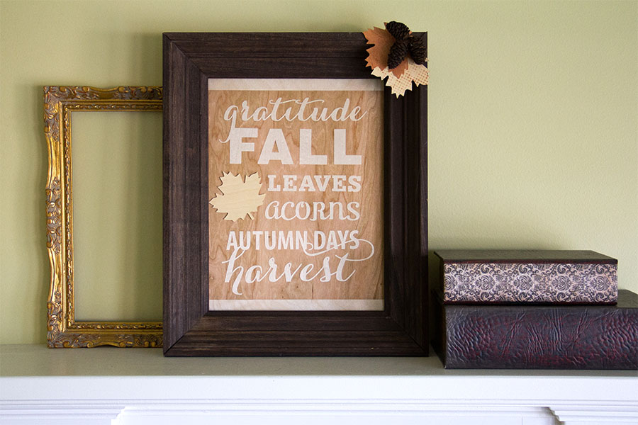 Fall Frame with BARC Wood