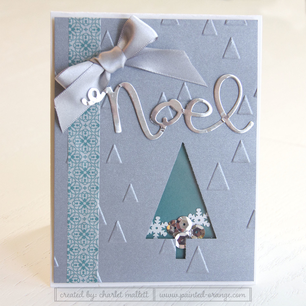 Festival of Trees shaker card - card club version