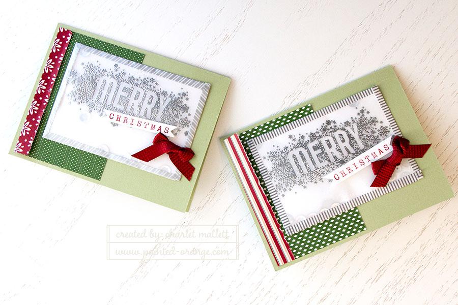 Merry Shaker Cards - Seasonally scattered