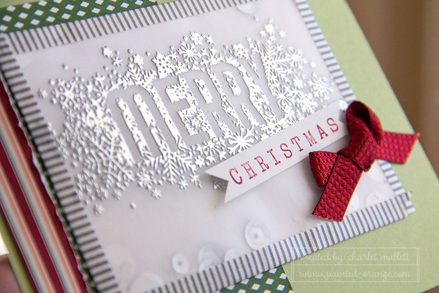 Detail view of Merry Shaker card.