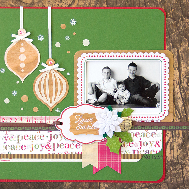 Holiday SB Page with BARC Wood