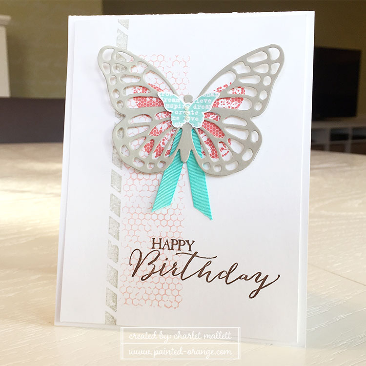 Butterfly Basics card using the Butterfly thinlits.