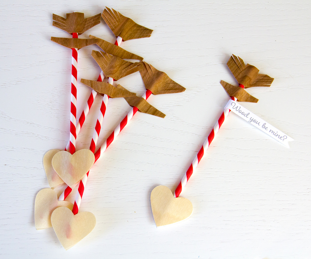 Valentine Paper straw arrows