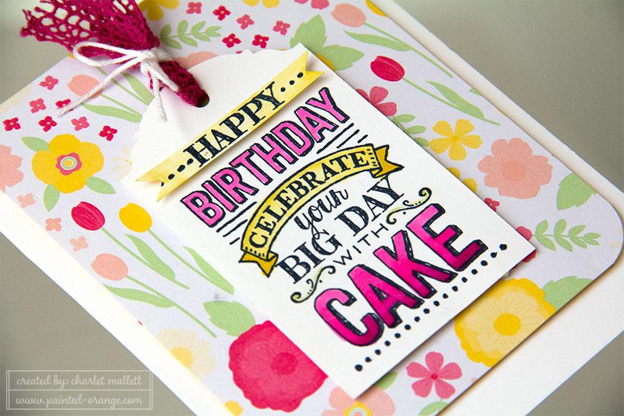 Big Day birthday card detail