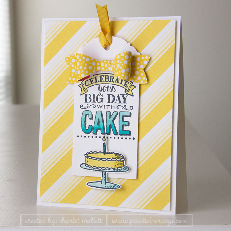 Big Day birthday card in Daffodil and Cabana