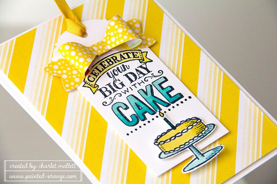 Big Day birthday card detail - daffodil