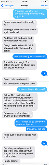 text tips from mom...