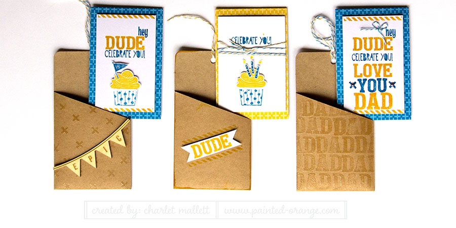 Love You A Lot May 2015 Paper Pumpkin kit from Stampin' Up! Projects altered using Cupcake Party.