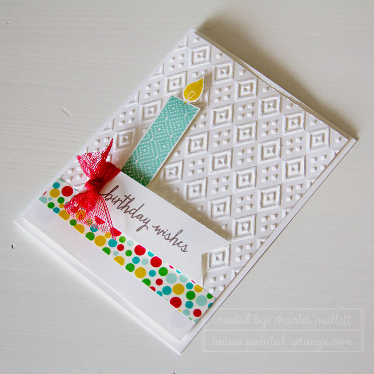 Build A Birthday candle card - Stampin' Up!