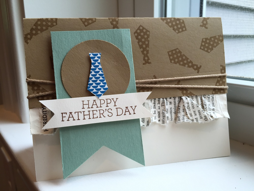 Father's Day card using Crazy About You & Something For Baby Stamp sets