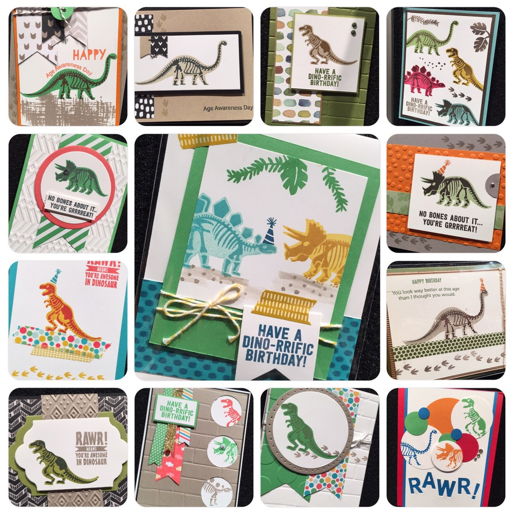 Snippets of display samples from  'No Bones About It'  Stampin' Up!