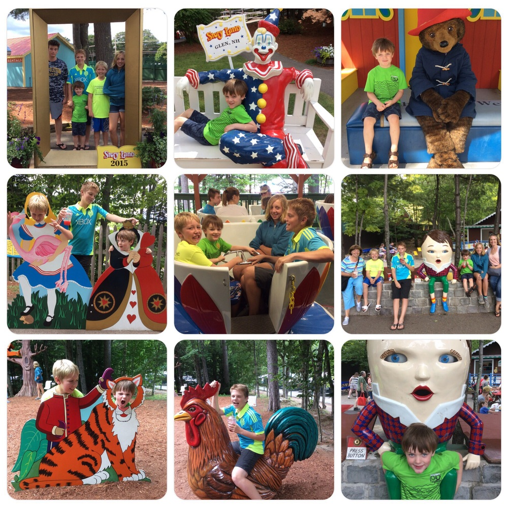 Storyland with Ben, Andrew, Nicholas, Grammy, Nina & Billy 8.7.15