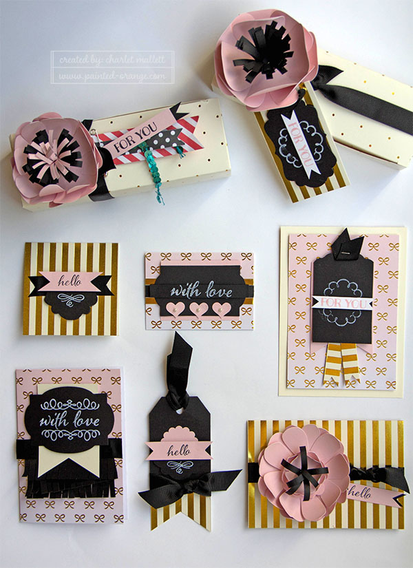 August 2015 Paper Pumpkin alternates for the Chalk It Up to Love kit.