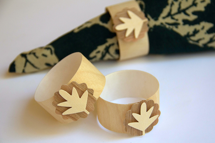 Wood Tape napkin rings