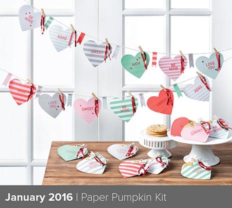 Paper Pumpkin Jan 2016 Painted Orange