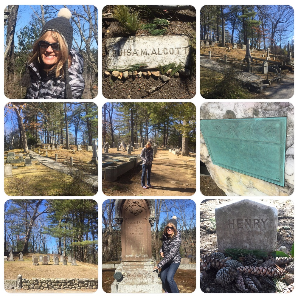 Sleepy Hollow cemetery, burial spots for Thoreau, Alcott, Emerson to name a few.