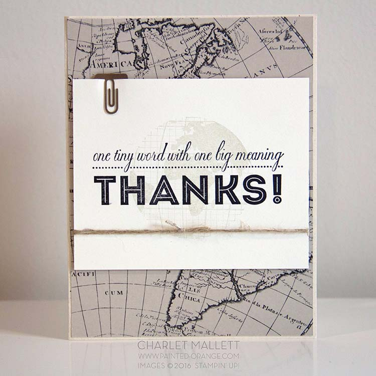 One Big Meaning, Going Global Thank You card #GDP027