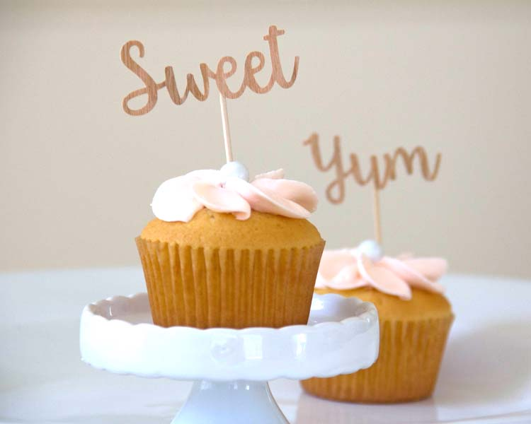 Yummy Little Cupcake toppers