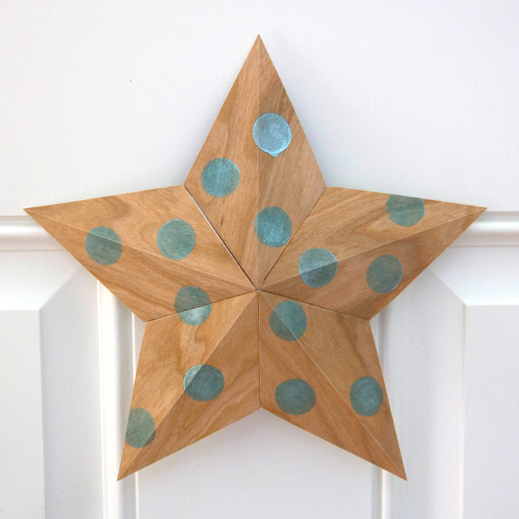 Wood Paper Star with Lumiere