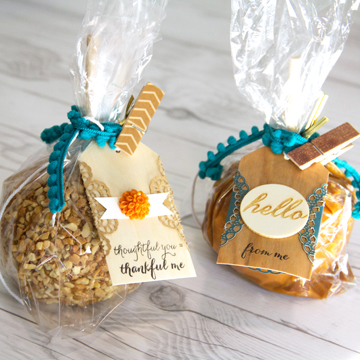 Treat Packaging with Real Wood Tags