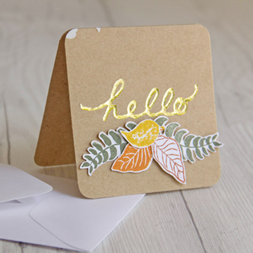 Hello Card with Gold Foil