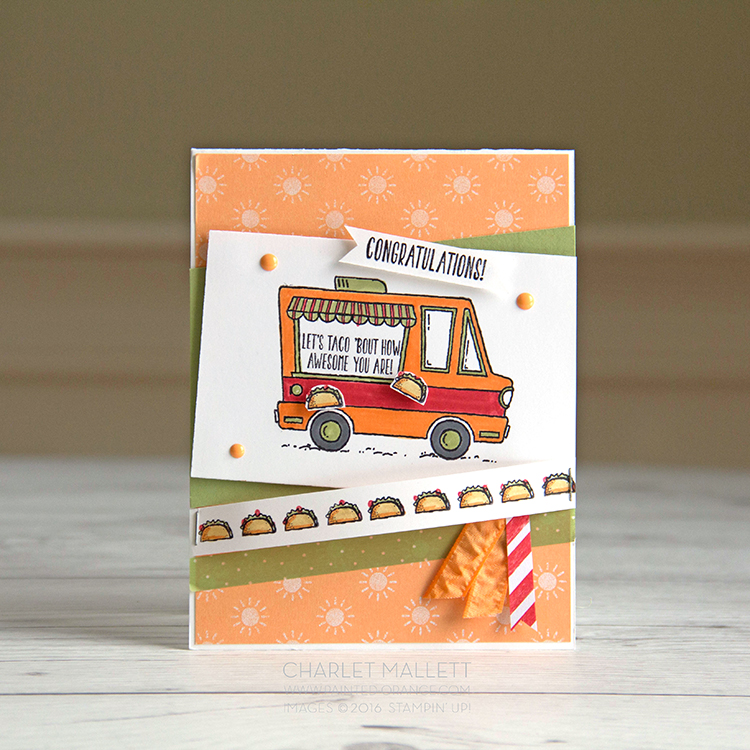 Tacos anyone? Card made with Tasty Trucks Stamp Set, Stampin' Up!