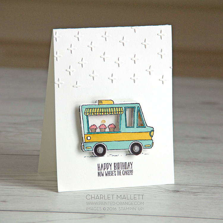 Tasty Trucks shaker card. Tacos anyone? Card made with Tasty Trucks Stamp Set, Stampin' Up!