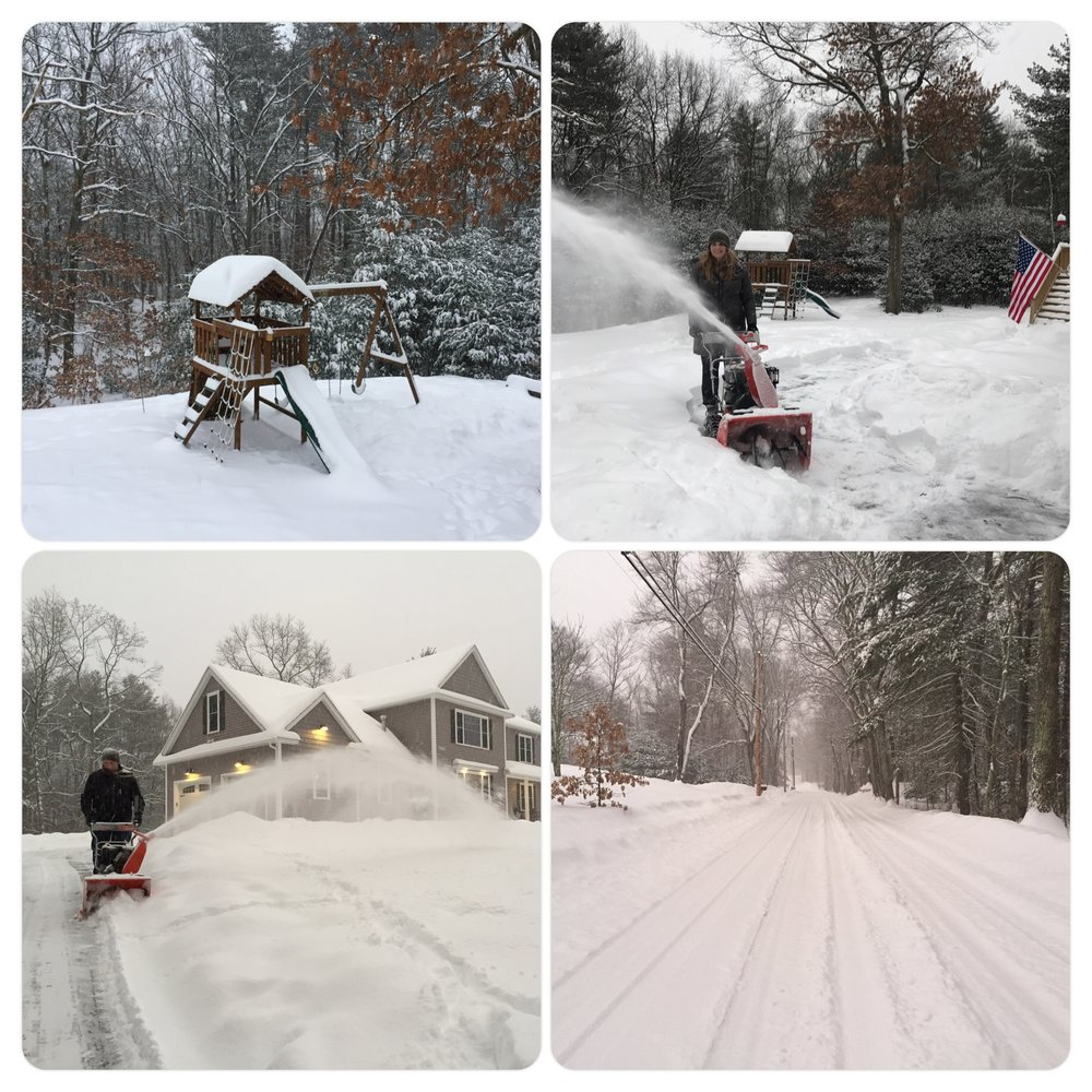 Chris and I are both pros with snowblower. Chris even repaired it a couple of times.