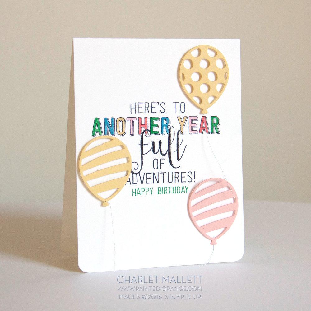 Balloon Adventures - Stampin' Up! 2017 Occasions mini catalog - Charlet Mallett