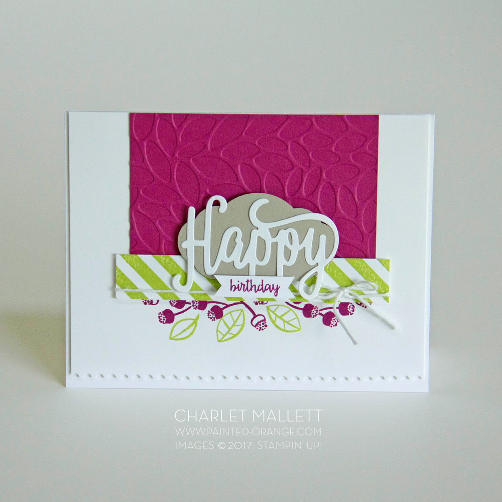 Happy Birthday Gorgeous and Happy Birthday Thinlet from Stampin' Up! 2017 - Charlet Mallett