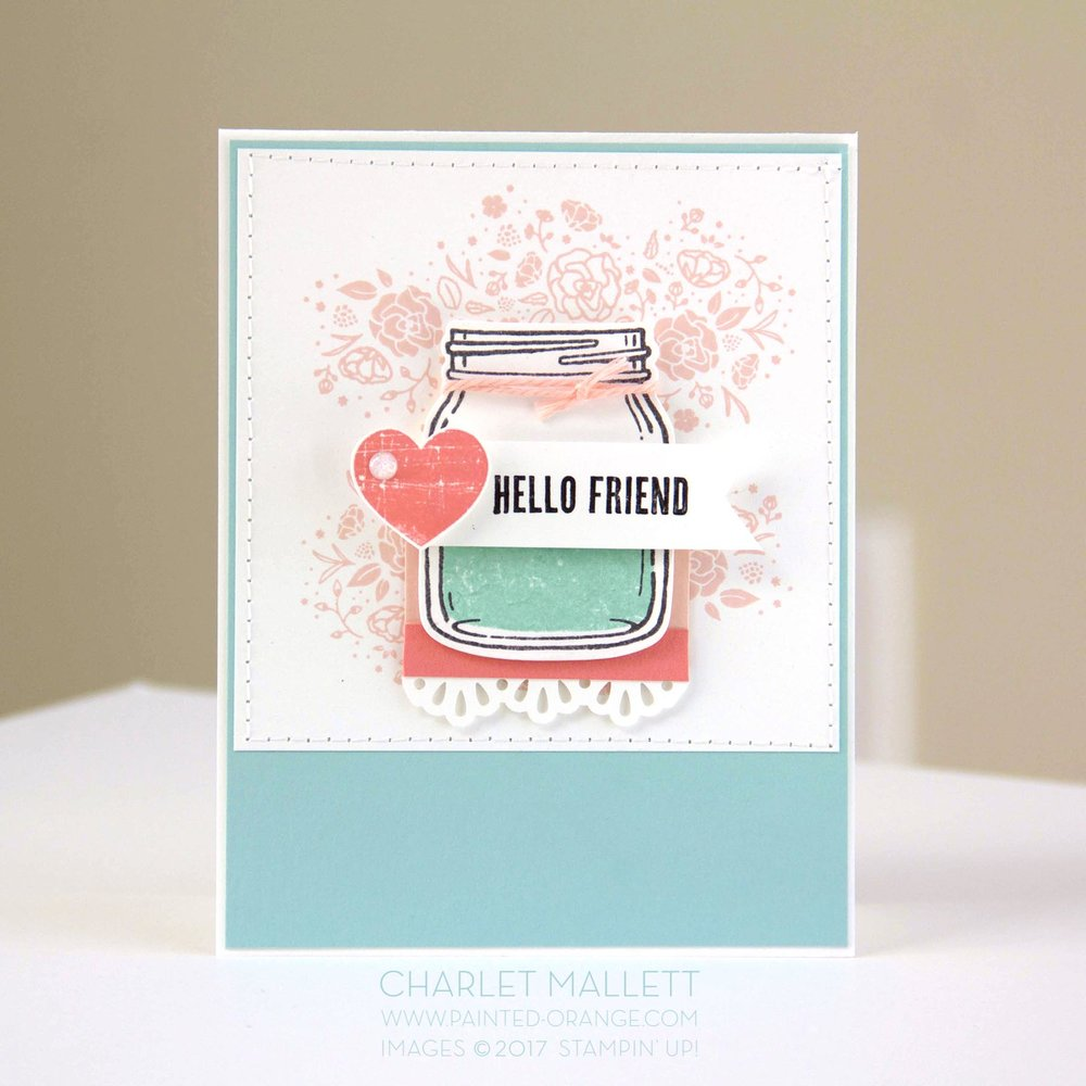 Wood Words, Jar of Love, #GDP092 Case Challenge - Charlet Mallett - Stampin' Up!