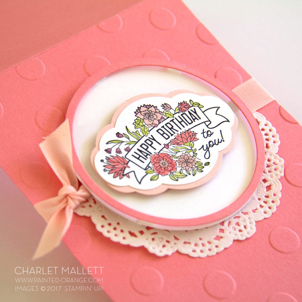 Label Me Pretty Birthday Card - Charlet Mallett, Stampin' Up!