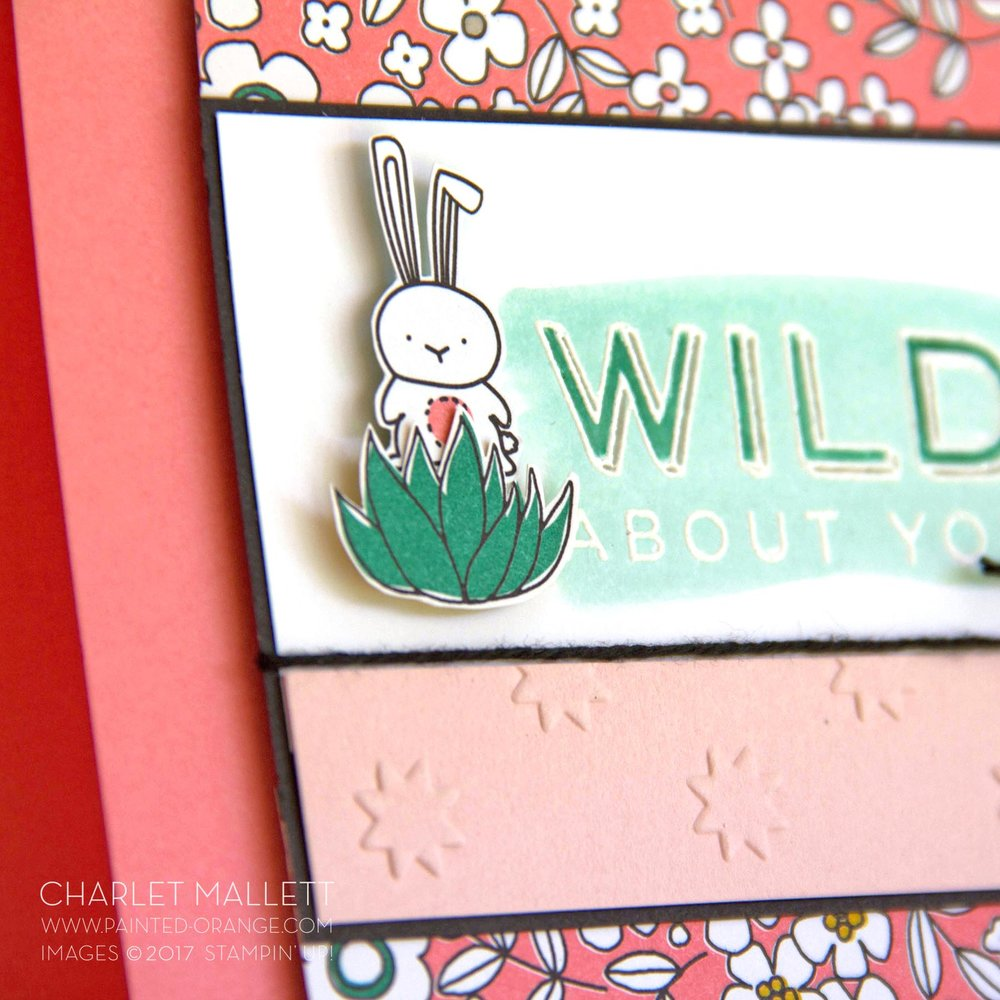 Pieces & Patterns, Pick a Pattern - Wild About You Critter card - Charlet Mallett, Stampin' Up!