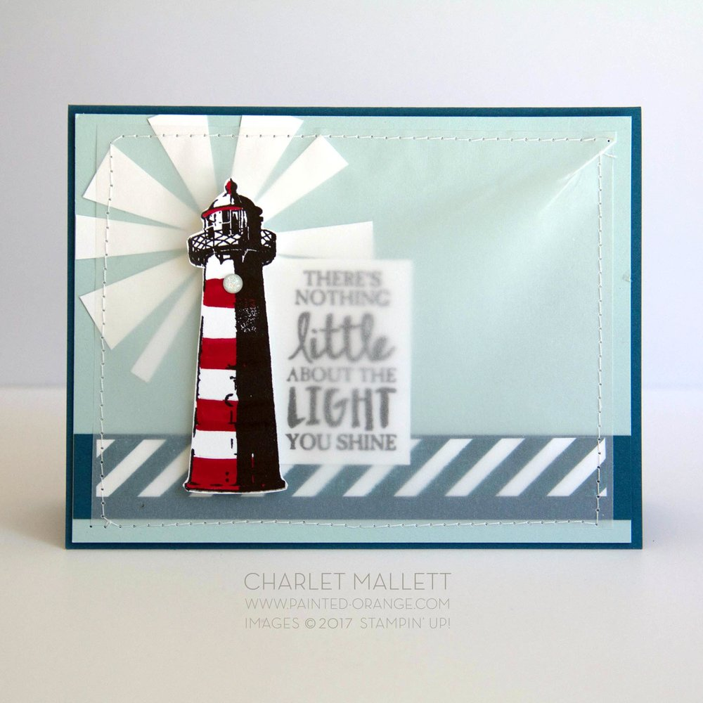 High Tide Lighthouse Card - Charlet Mallett, Stampin' Up!