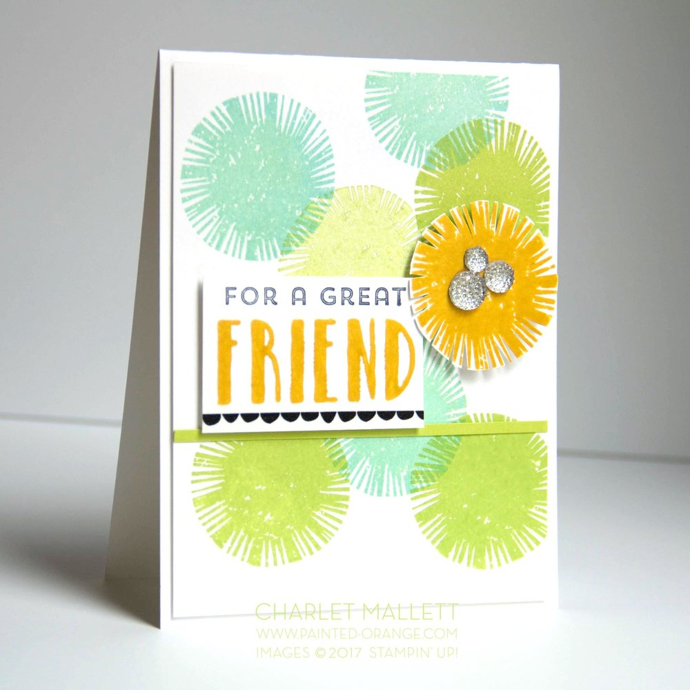 Lovely Inside & Out - TGIFC119 Color Challenge. Charlet Mallett, Stampin' Up!