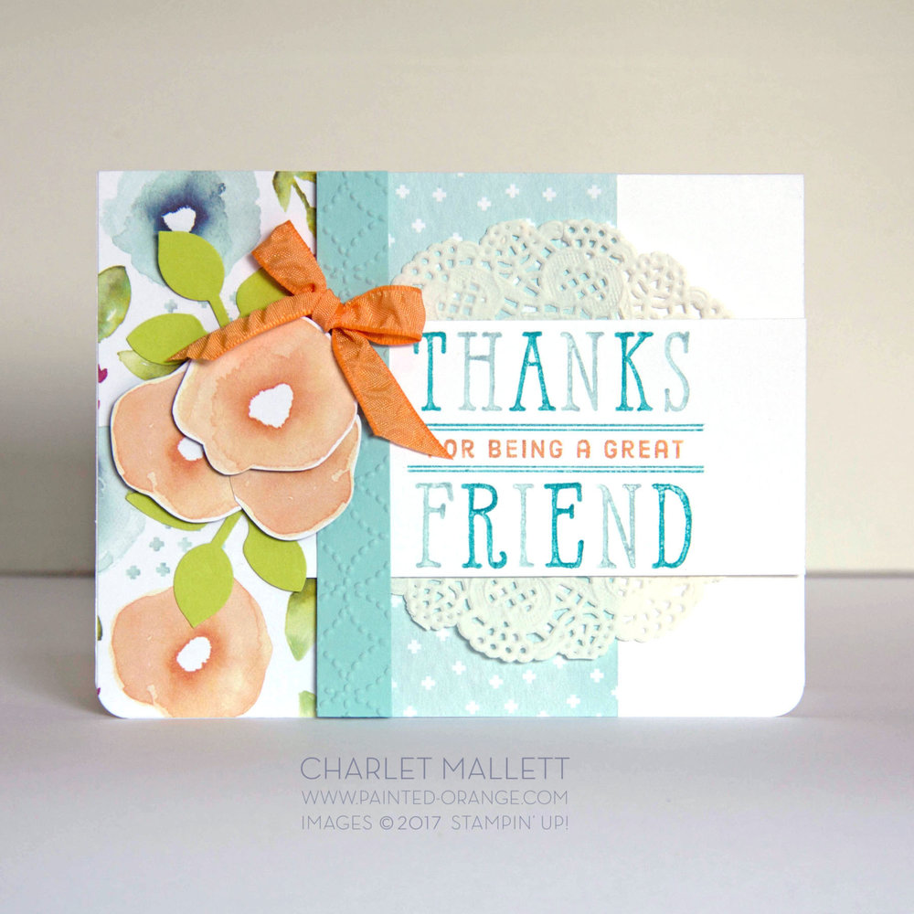Window Shopping THANKS card. Charlet Mallett, Stampin' Up!