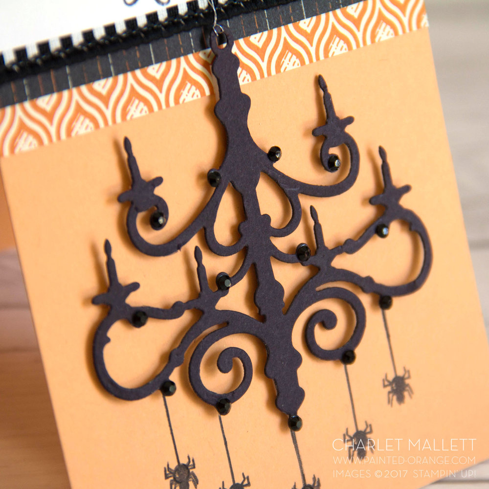 Season to Sparkle Halloween Chandeliercard - Charlet Mallett, Stampin' Up!