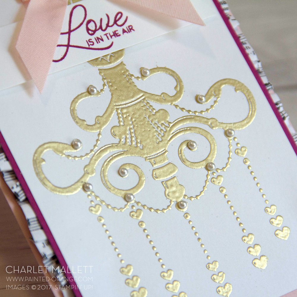 Season to Sparkle Love is in the Air Chandelier - Charlet Mallett, Stampin' Up!