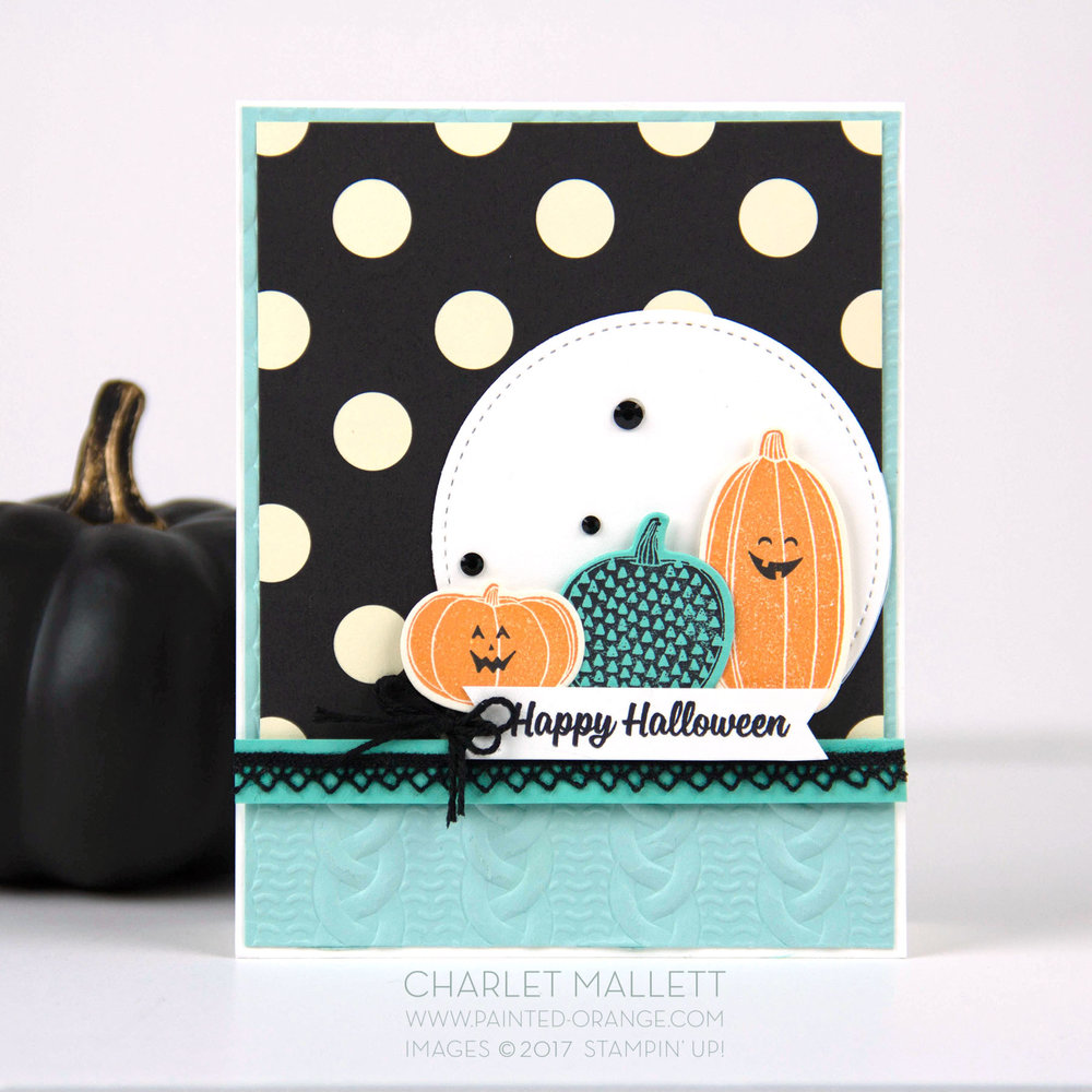 Pick A Pumpkin Halloween Card - Charlet Mallett, Stampin' Up!