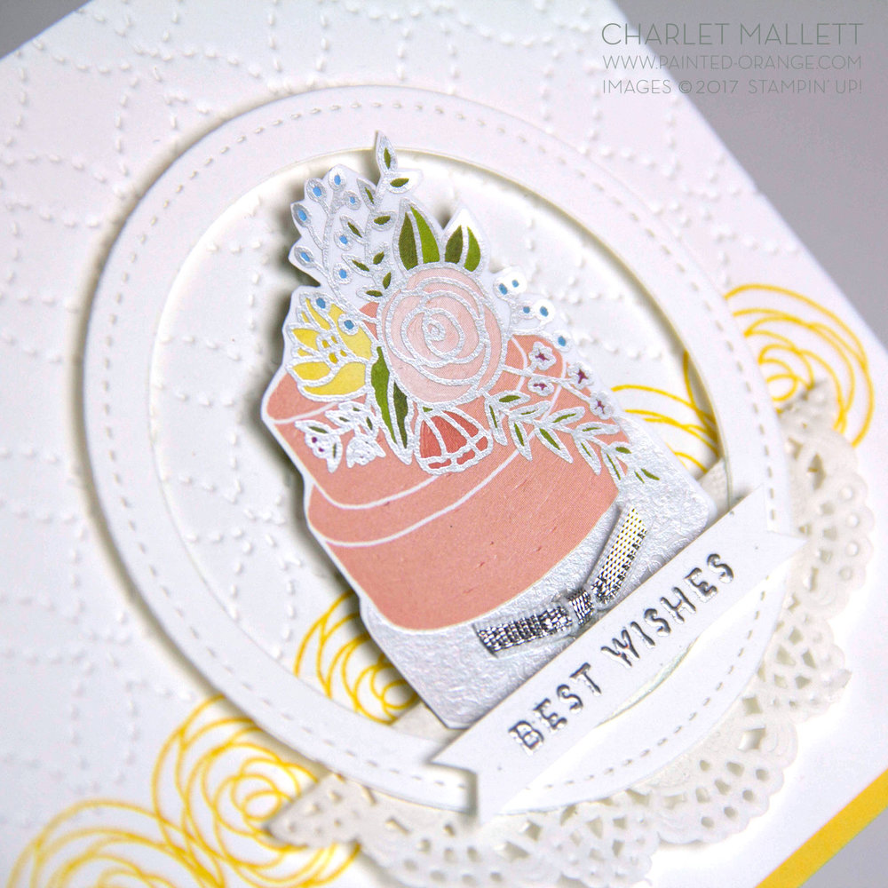 Cake Soiree stamp set & embellishments - Charlet Mallett, Stampin' Up! Occasions Catalog 2018