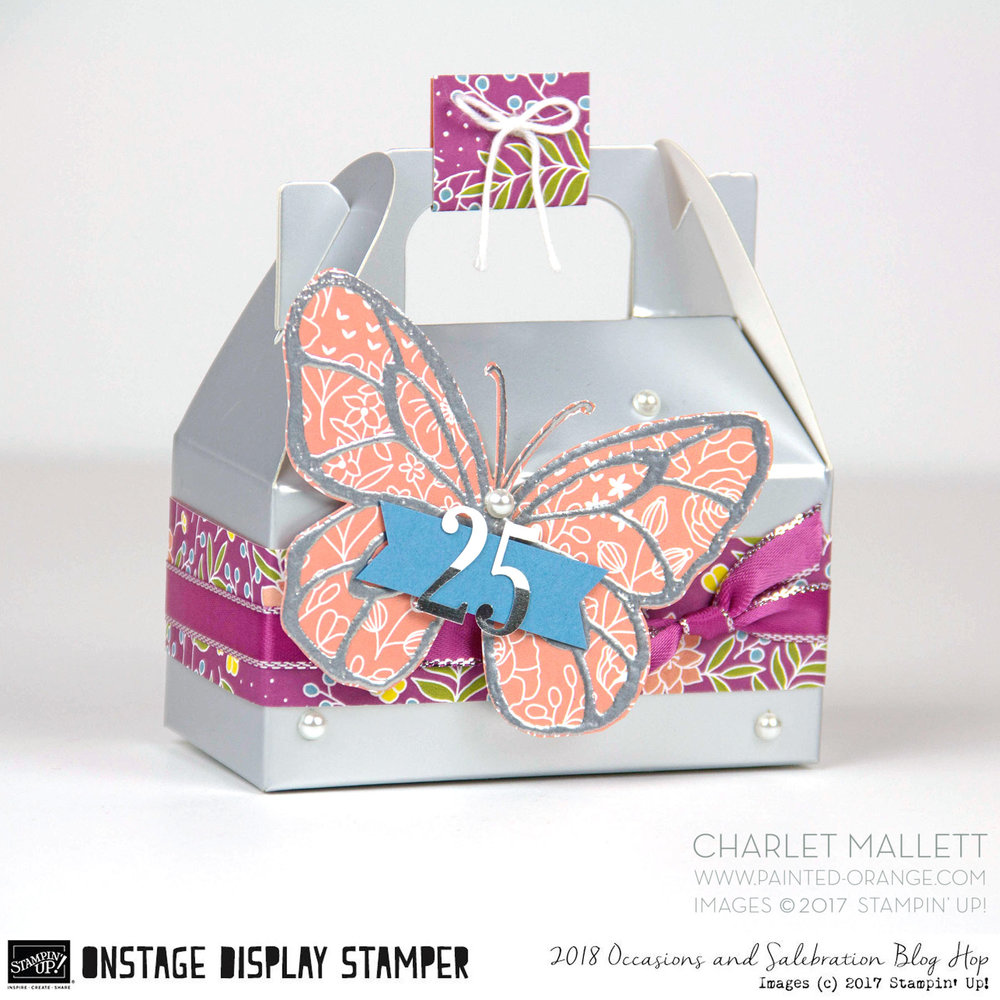 Beautiful Day Silver gable gift box - Charlet Mallett - Stampin' Up! Occasions 2018