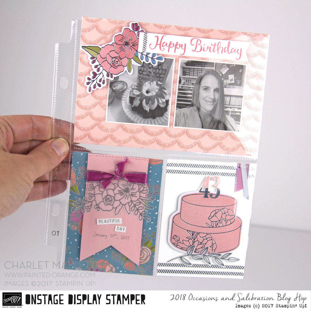 Create your own Memories and More cards using the Cake Soirée collection of products. Charlet Mallett - Stampin' Up! Occasions 2018