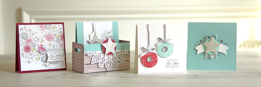 3x3 Love note gift pack using the Wood Words stamp set. Charlet Mallett - Stampin' Up!