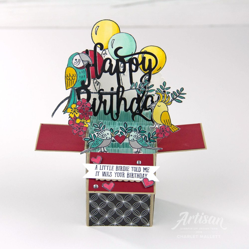 Bird Banter Card in a Box - Charlet Mallett, Stampin' Up!