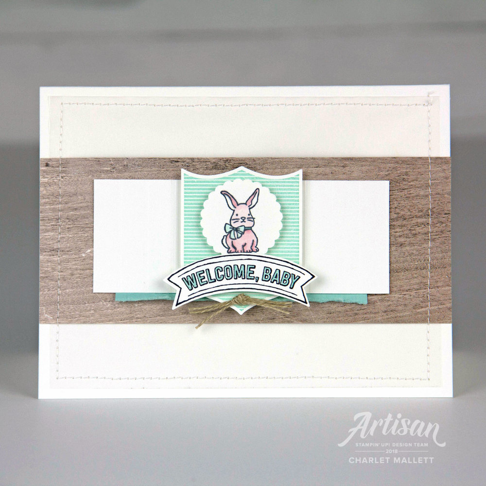 A Good Day, Badges & Banners card - Charlet Mallett, Stampin' Up!