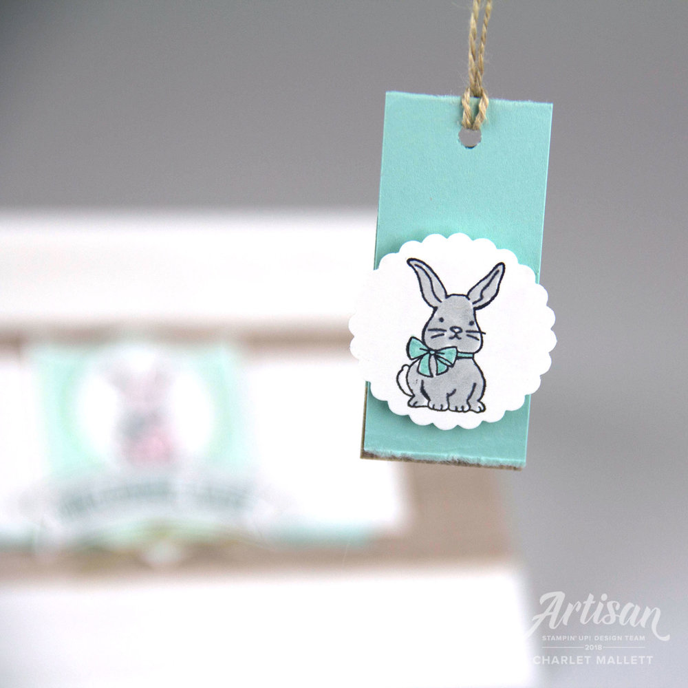 A Good Day Bunny tag - Charlet Mallett, Stampin' Up!